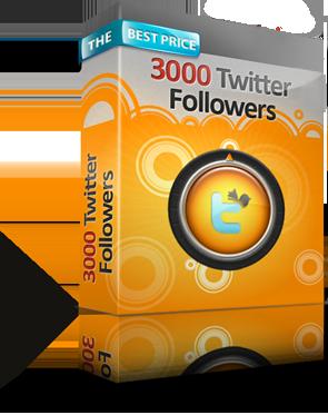 3000 Twitter Followers
